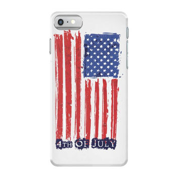 4th of july flag iPhone 7 Case
