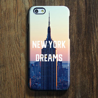 New York Dreams iPhone 6s Case iPhone 6 plus Case Ethnic iPhone 5S iPhone 5C iPhone 4S 4 Case Building City Galaxy S6 edge S6 S5 S4 Case 093
