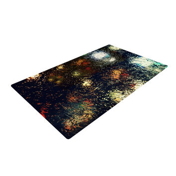 """Robin Dickinson """"Blinded"""" Water Black Woven Area Rug"""