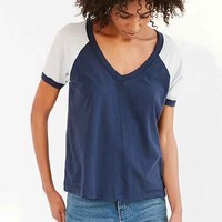 Truly Madly Deeply Prinze V-Neck Raglan Tee