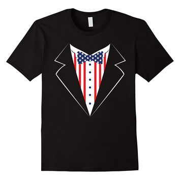 Red White and Blue Tuxedo Shirt, Funny 4th of July America