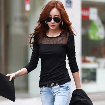 Korean Fashion Women's Style Cotton Lace Mesh