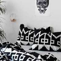Magical Thinking Southwest Geo Sham - Set Of 2- Black One