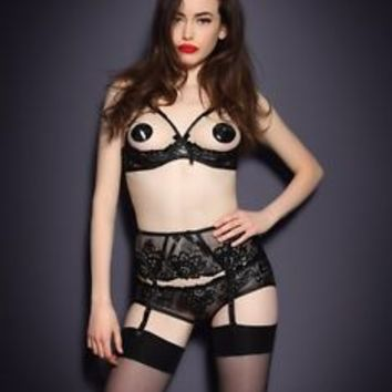 Agent Provocateur CENDRILLON 1/4 Cup Bra Brief Suspender Garter Belt New w/Tags