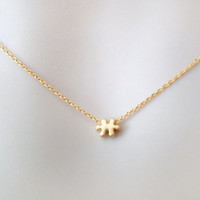 Tiniest, puzzle, super, tiny, pendant, puzzle, necklace, minimal, small, charm, necklace, tiny, puzzle, minimal, dainty, simple, jewelry