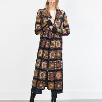 CROCHET PATCHWORK COAT
