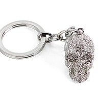Skull Keychain - Silver | Gifts for Her | Gifts | Z Gallerie
