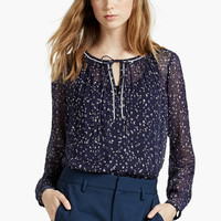 Lurex Printed Top | Lucky Brand