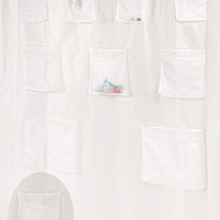 "Royal Bath Heavy PEVA Non-Toxic Shower Curtain Liner with 9 Mesh Pockets for Organization (70"" x 72"") -Frosty Clear"