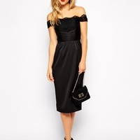 ASOS Lace Panel Wrap Dress