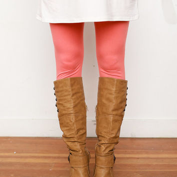 (Black Friday) Soft and Cozy Basic Leggings Coral