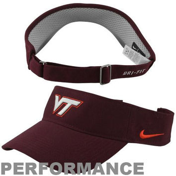 a8af142e65d25 Nike Virginia Tech Hokies Sideline Dri-FIT Adjustable Performance Visor -  Maroon
