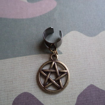 Supernatural Devil's Trap Pentagram Ear Cuff Earcuff Earrings