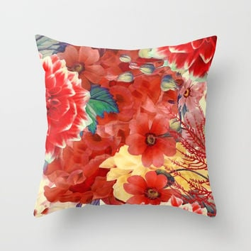 flowers 29 #flora #flowers #pattern Throw Pillow by jbjart