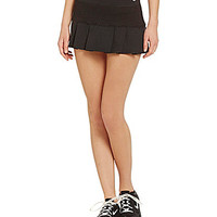 Trina Turk Recreation Racquet Club Jacquard Tennis Skirt - Black