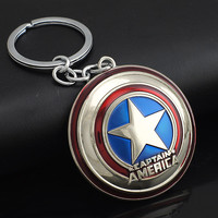 Hot Marvel Comics Super Hero Captain America The Avengers KeyRing Keychain Holder Purse Bag Buckle Accessories Gift K102