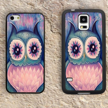 Colorful Owl iPhone Case-iPhone 5/5S Case,iPhone 4/4S Case,iPhone 5c Cases,Iphone 6 case,iPhone 6 plus cases,Samsung Galaxy S3/S4/S5-014
