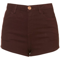 MOTO Wine Clean Hotpants - Shorts - Clothing - Topshop