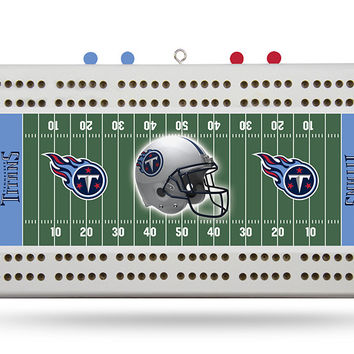 TENNESSEE TITANS FIELD CRIBBAGE BOARD