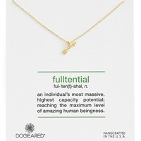 Women's Dogeared 'Definitions Defined - Fulltential' Arrow Pendant Necklace