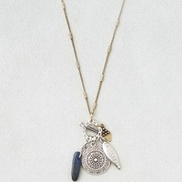 AEO LAPIS & COIN CHARM NECKLACE