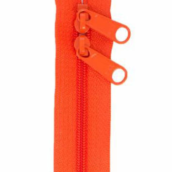 Handbag Zipper 30 inches Tangerine Double Slide