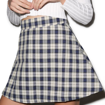 Happy Monday Reality Bites Plaid Skirt Multi Small