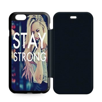 Stay Strong Demi Lovato Leather Wallet Flip Case iPhone 6 | 6S