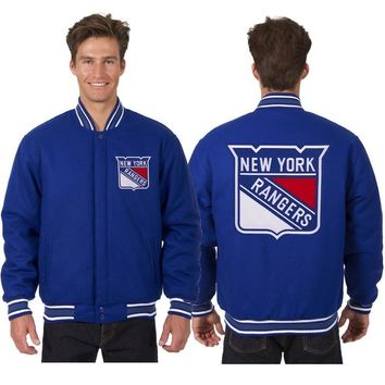 New York Rangers Wool Jacket - Royal Blue