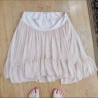 Free People Flowy Light Pink Mini Skirt XL 💃