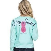 """Simply Southern """"Pineapple"""" Long Sleeve Shortie"""