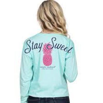 "Simply Southern ""Pineapple"" Long Sleeve Shortie"