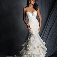 Alfred Angelo 2527 Ruffle Mermaid Wedding Dress