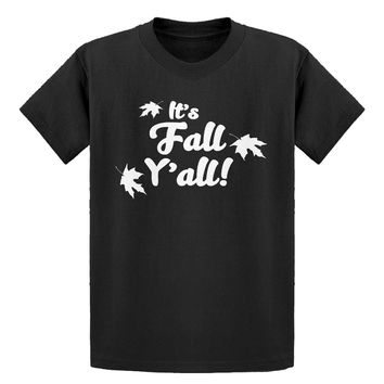 Youth It's Fall Y'all Kids T-shirt