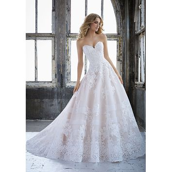 Morilee 8211 Kimberley Princess Lace Ball Gown Wedding Dress