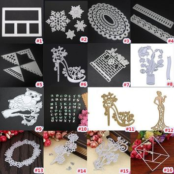 16 Types Silver Metal Frame Memory Box Cutting Dies DIY Scrapbooking Diary Card Hand Craft