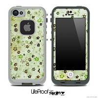 Vintage Green Spots Pattern Skin for the iPhone 5 or 4/4s LifeProof Case