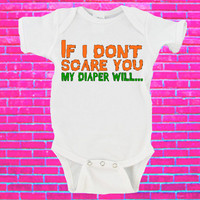 If I Don't Scare You My Diaper Will Halloween Gerber Onesuit ®