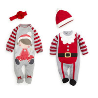2pcs Christmas romper jumpsuit costume