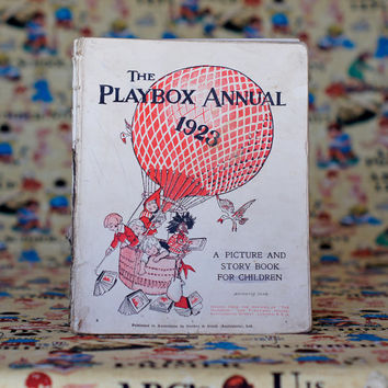 The Playbox Annual 1923 Vintage Children's Book Picture Book Story Book Children's Annual by Gordon & Gotch (Australasia)