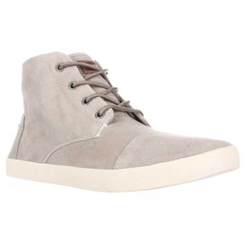 TOMS Paseo High Lace-Up Perforated Fashion Sneakers - Sand