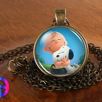 The Peanuts Movie Charlie Brown & Snoopy Fashion Necklace Pendant Jewelry Gift