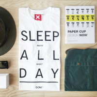 Sleep All Day, Party All Night / Minimal T-shirt ,Cool T-shirt ,Quote Tshirt ,Slogan Tshirt,Typography tees,T-shirt ,Party Tshirt