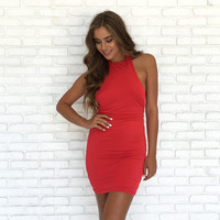 Love Yourself Dress In Red