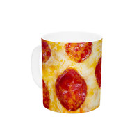 "KESS Original ""Pizza My Heart"" Pepperoni Cheese Ceramic Coffee Mug"