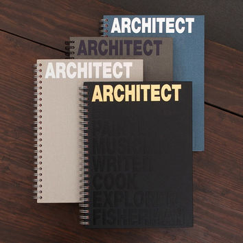 Architect spiral drawing notebook