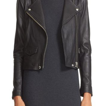 IRO 'Ashville' Lambskin Leather Moto Jacket | Nordstrom
