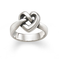 James Avery Heart Knot Ring - Sterling Silver 8