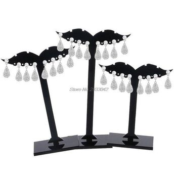 ac DCCKO2Q 3Pcs Earring Ear Stud Jewelry Display Holder Tree Storage Hanger Plastic Stand Show Rack  -W128