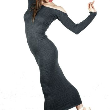 Dancewear Unique Ankle Length Warm Up Sweater Dress